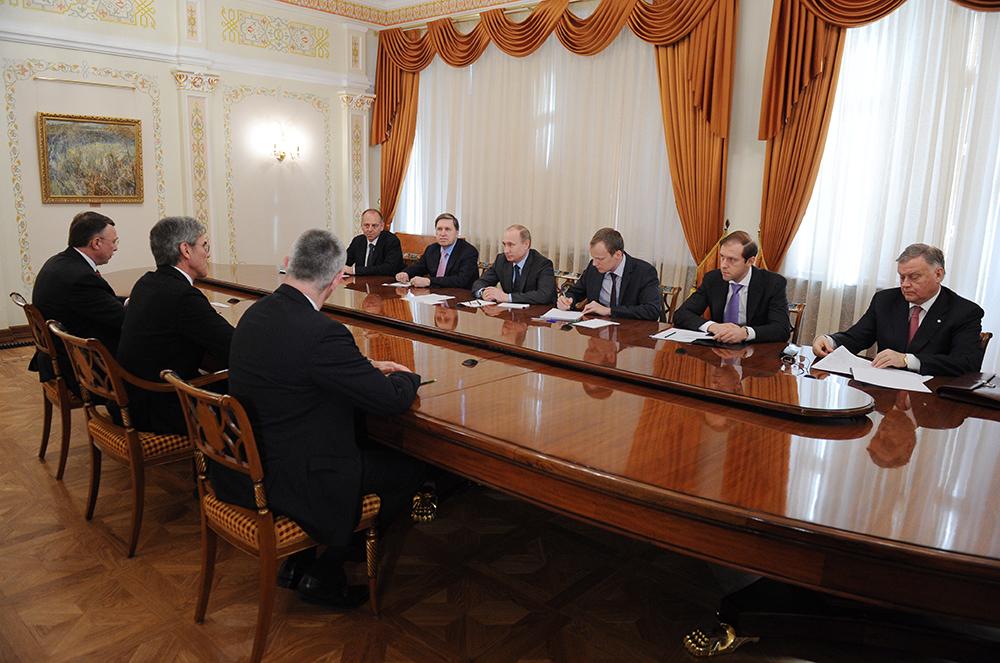 Встреча Владимира Путина с председателем правления концерна Siemens Джо Кэзером