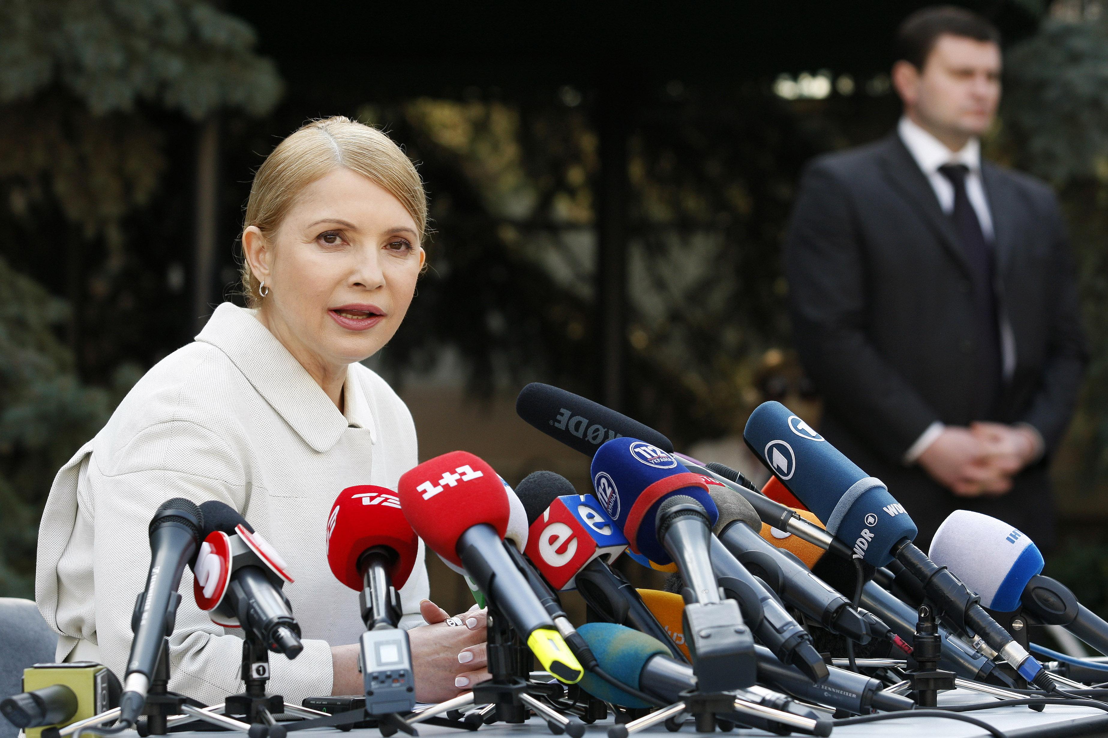 Пресс-конференция Юлии Тимошенко в Киеве