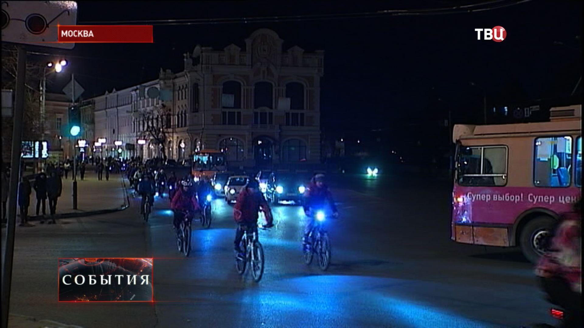 """Велопробег посвященный экологической акции """"Час Земли"""""""