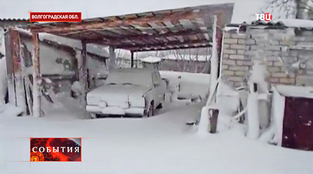 Снегопад в Волгоградской области