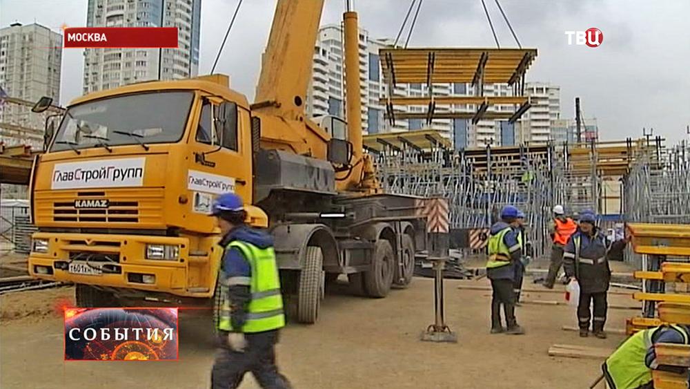 Строительство развязки на Варшавском шоссе