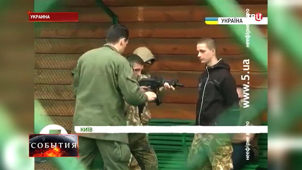 """Боевики """"Правого сектора"""" на тренировочной базе"""