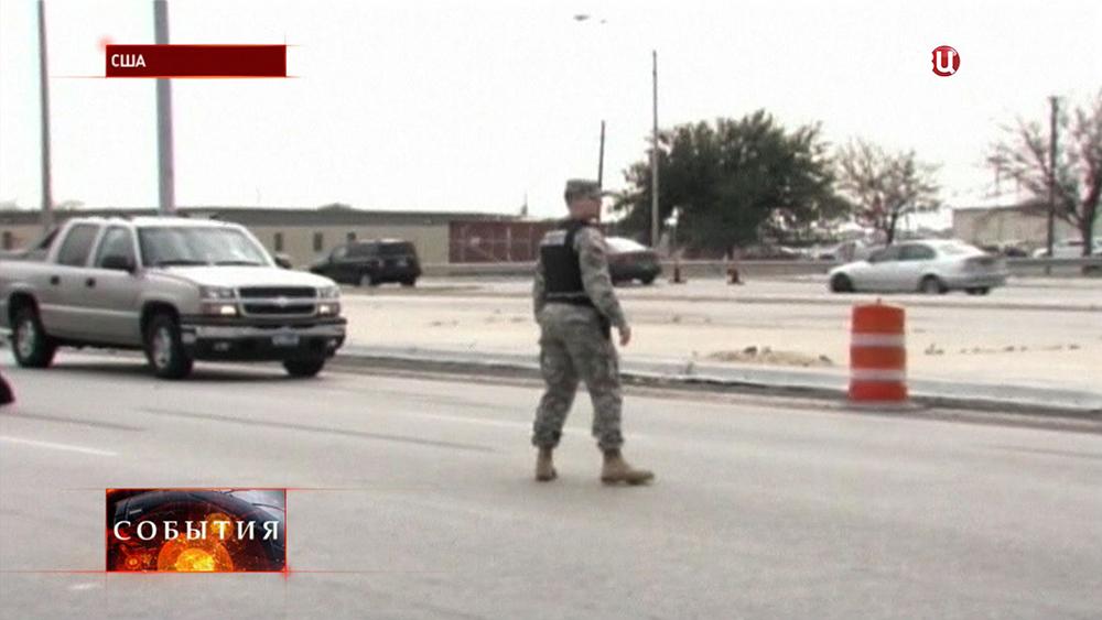 Военные США перекрыли въезд на базу