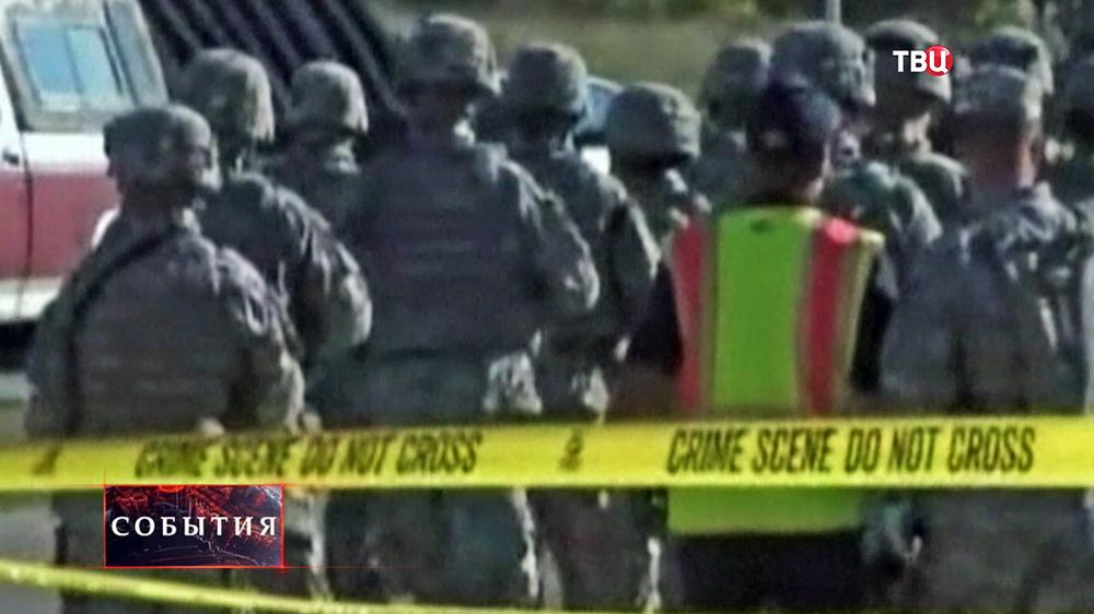 Военные США на базе, где произошла стрельба