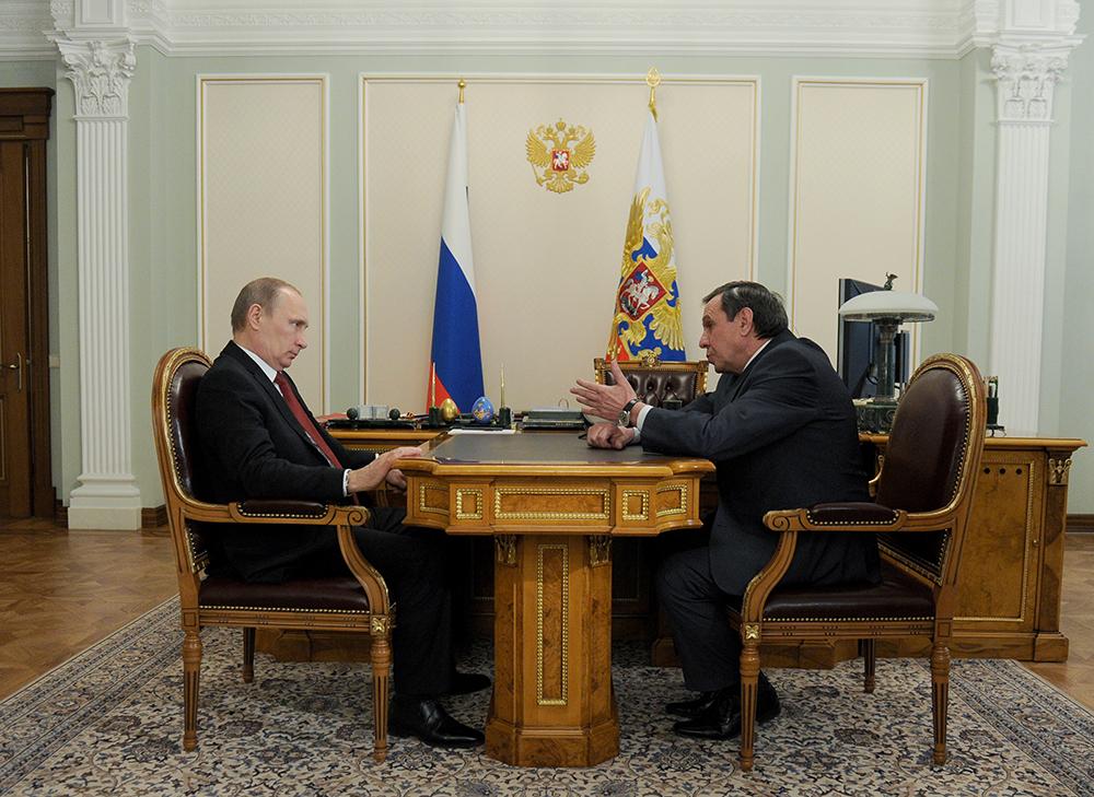 Встреча Владимира Путина и Владимира Городецкого