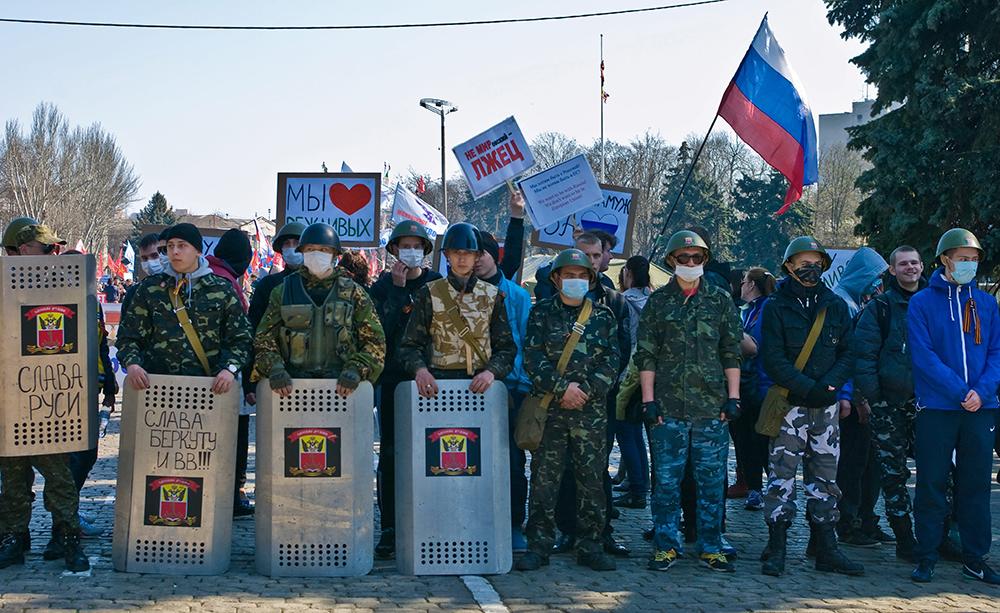 """Активисты """"Антимайдана"""" в Одессе"""