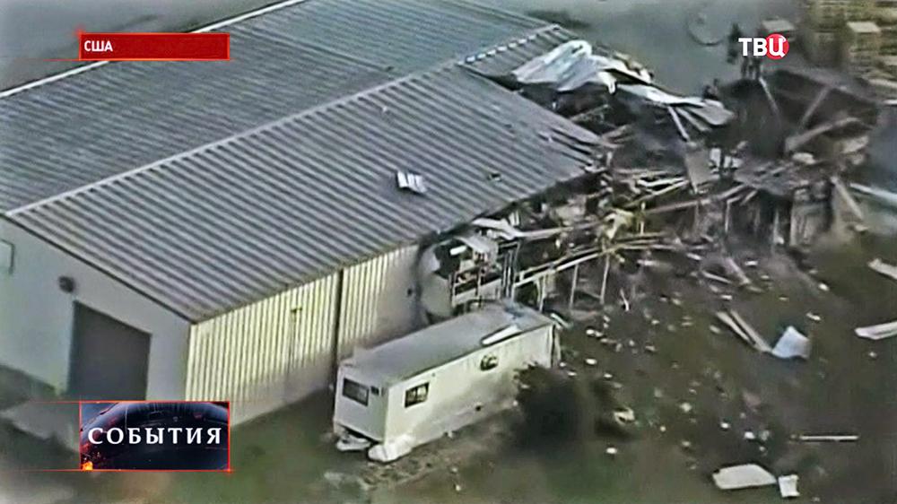 Последствия взрыва на оружейном заводе в США