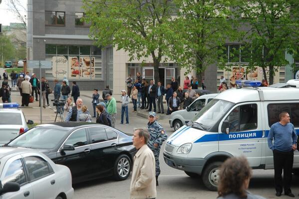 На месте происшествия в Белгороде. Источник: Twitter, пользователь: Корнев @che0cafe