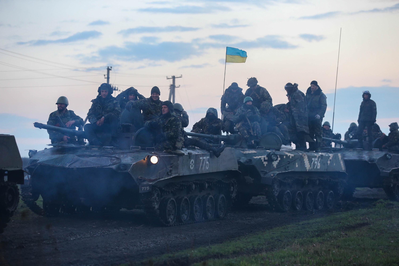 Военнослужащие 25-ой отдельной бригады ВДВ вооруженных сил Украины