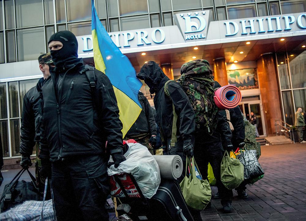 """Активисты радикального движения """"Правый сектор"""""""