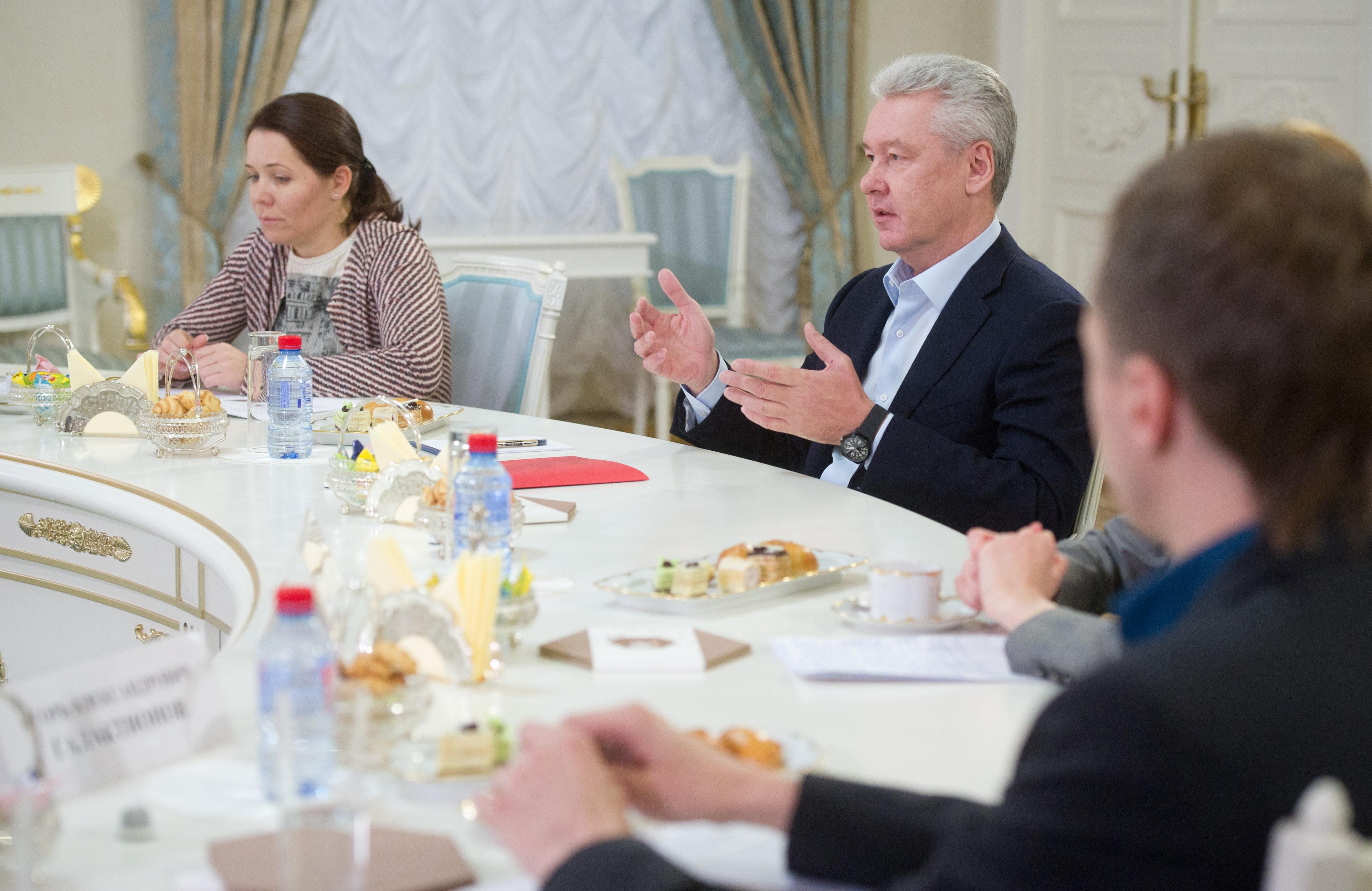 Сергей Собянин на встрече с участниками краудсорсинг-проекта портала «Наш город»