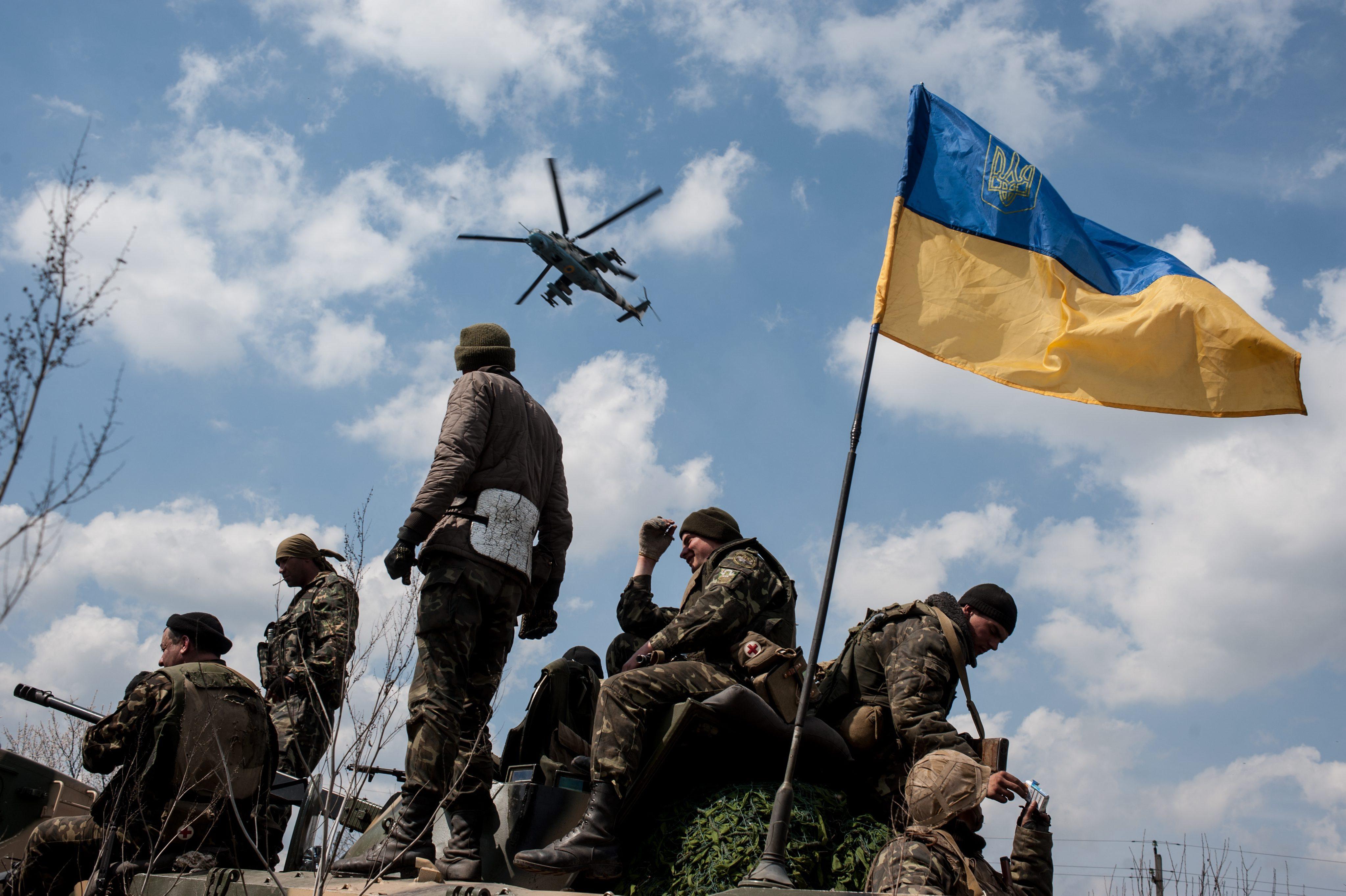 Украинские войска на востоке Украины