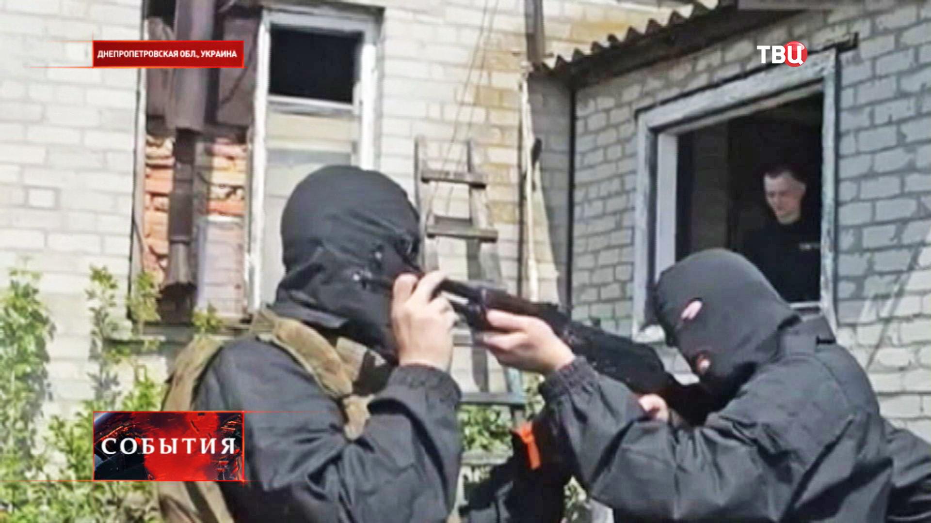 """Тренировка боевиков """"Правого сектора"""" батальона """"Донбасс"""""""