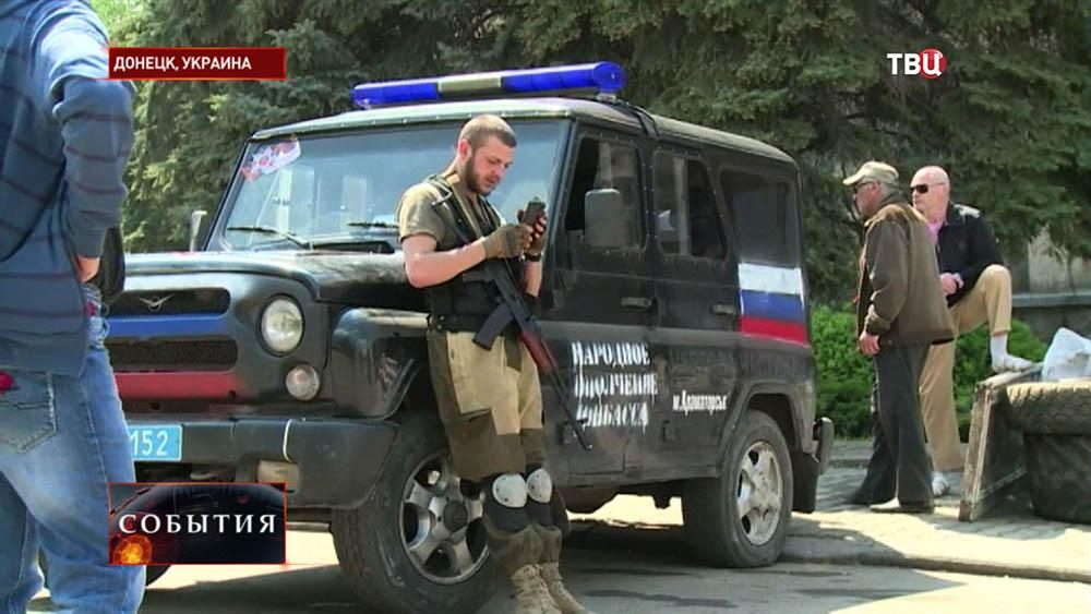 Народные ополченцы в Донецке