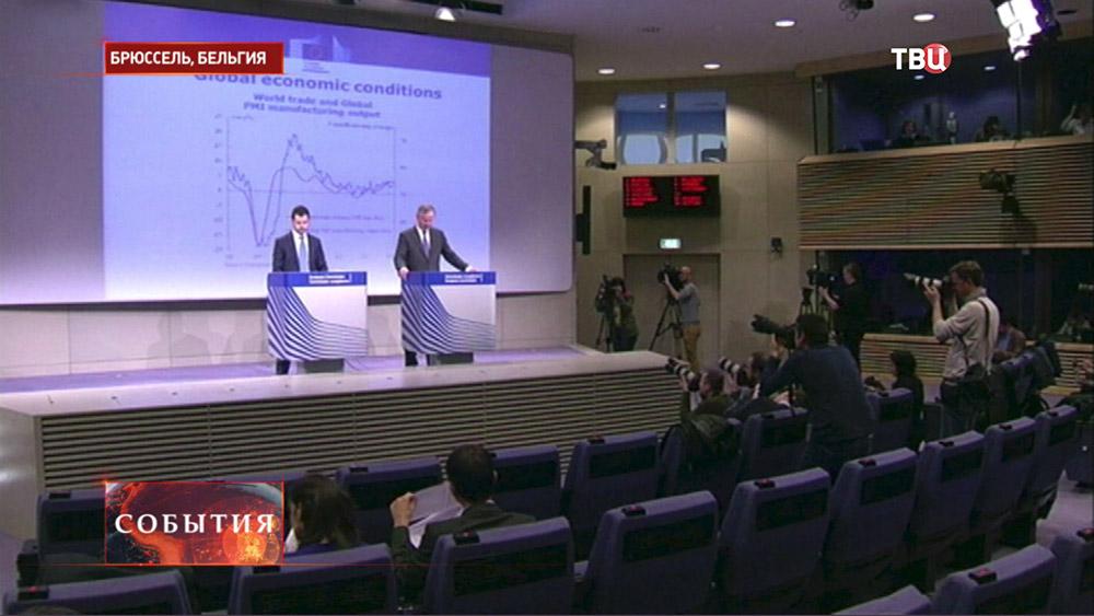 Пресс-конференция на саммите стран ЕС в Брюсселе