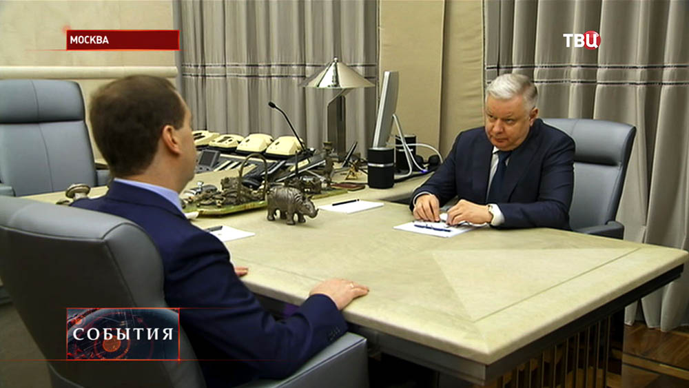 Дмитрий Медведев и глава ФМС Константин Ромодановский