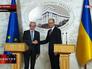 Председатель европейского совета Херман Ван Ромпей и Премьер-министр Украины Арсений Яценюк