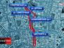 Перекрытие движения в Москве