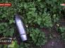 Неразорвавшийся снаряд в Славянске