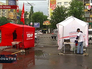 Агитационные палатки политических партий Украины