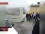 Автобус попал под фонтан лопнувшей теплотрассы в Красноярске