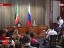 Глава МИД РФ Сергей Лавров и министр иностранных дел Южного Судана Бенджамин Барнаба