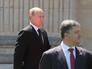 Президент России Владимир Путин и избранный президент Украины Петр Порошенко