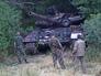 Танк Т-64, захваченный ополченцами