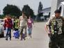 Беженцы из Донбасса, прибывающие в Россию