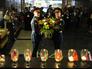 """Во время акции """"Свеча памяти"""" в Центральном музее ВОВ на Поклонной горе"""