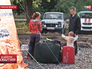 Палаточный пункт для украинских беженцев в Ростовской области