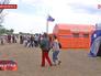 Палаточный лагерь для украинских беженцев в Ростовской области