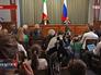 Пресс-конференция министра иностранных дел Италии Федерики Могерини и главы МИД РФ Сергея Лаврова