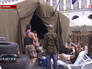 Активисты Майдана в палаточном городке на площади Независимости