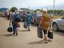 Беженцы на российско-украинской границе