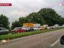Машины беженцев на востоке Украины