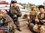 Бойцы женского батальона народного ополчения