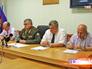 Московский городской военный прокурор Виктор Иванов на пресс-конференции