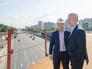 Руководитель Департамента строительства города Москвы Андрей Бочкарёв и Мэр Москвы Сергей Собянин