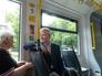Сергея Собянин в трамвае нового поколения