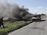 Во время артобстрела на трассе Луганск-Краснодон