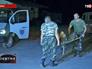 Транспортировка раненого военнослужащего украинской армии