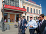 Сергей Собянин около здания Савеловского вокзала
