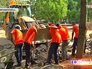Работы по благоустройству на 1-й Фрунзенской улице