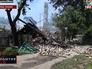 Последствия обстрела жилых районов в Донецкой области