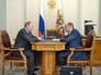 Президент России Владимир Путин и министр развития Дальнего Востока Александр Галушка