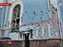 Последствия артобстрела жилых кварталов Нацгвардией Украины храма в Луганске