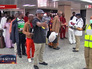 Медосмотр в аэропорту Нигерии в связи с эпидемией лихорадки Эбола