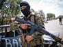 Бойцы Нацгвардии Украины на КПП