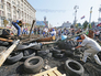 Разбор палаточного городка на Майдане